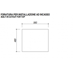Piano Cottura SETTANTA incasso da 70 - 4 gas + tripla corona griglie in ghisa - Granito Neve