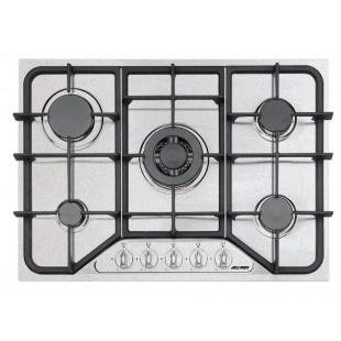 SETTANTA 70 cm built-in hob 4 gas burners + triple ring cast iron pan support - Snow Granite