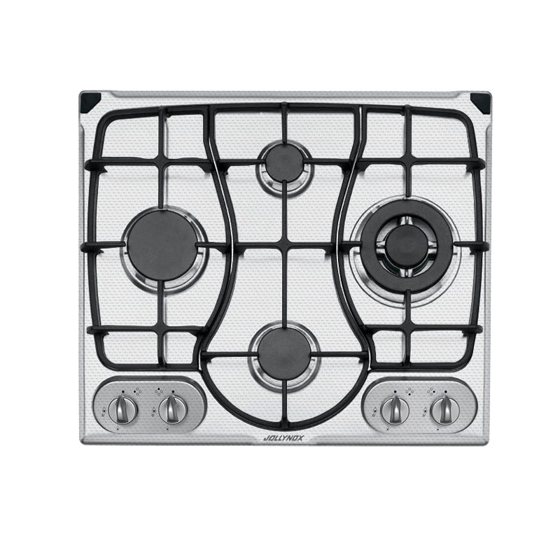 OMNIA 60 cm built-in hob 4 gas burners + Triple ring cast iron pan support - Decorated