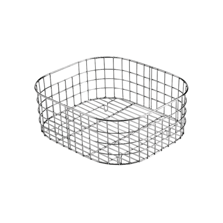 Polished stainless steel basket