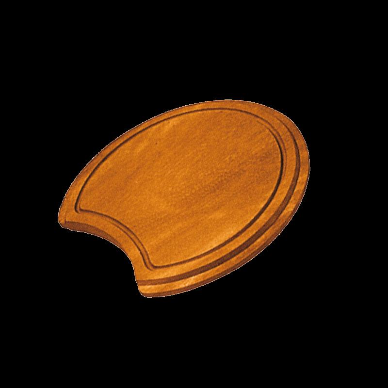 Round iroko chopping board