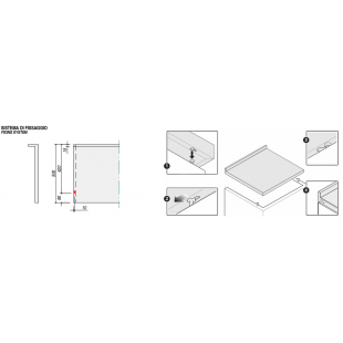 Lavello Free Standing inox satinato 90x50 cm - 1 vasca + gocciolatoio destro