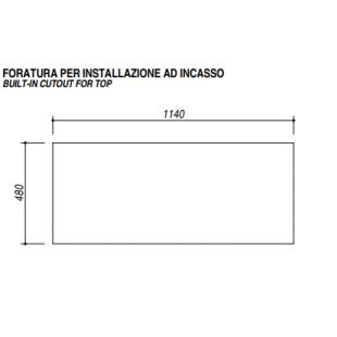 Lavello VEGA incasso inox 116x50 2 Vasche + gocciolatoio sinistro