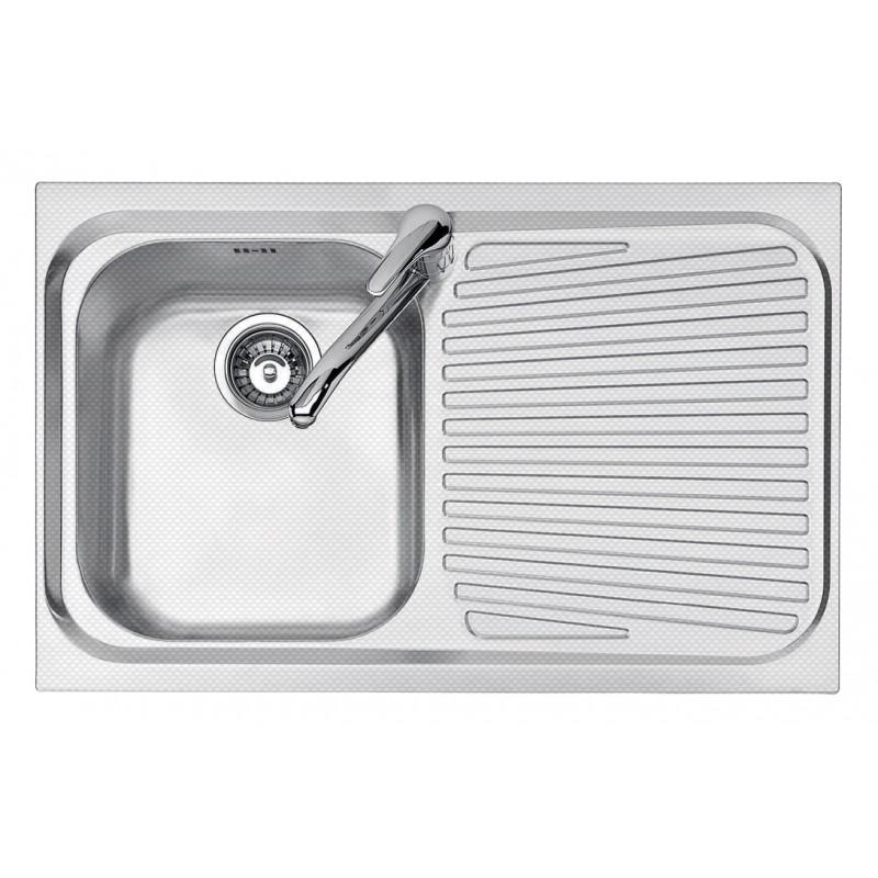 86x50 cm VEGA built-in sink - 1 bowl + right drainer