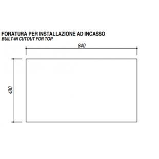 Lavello VEGA incasso inox 86x50 1 Vasca + gocciolatoio destro