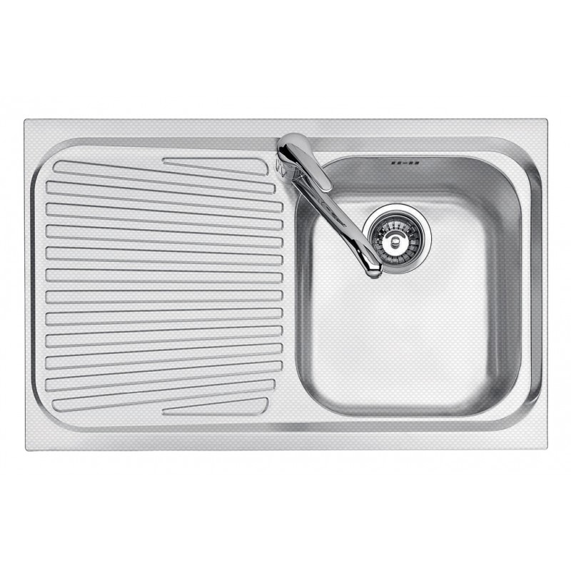86x50 cm VEGA built-in sink - 1 bowl + left drainer