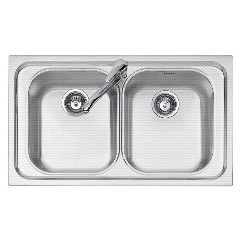 86x50 cm VEGA built-in sink - 2 bowls