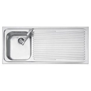 102x50 cm VEGA built-in sink - 1 bowl + right drainer