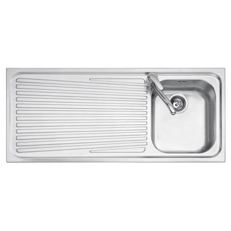 102x50 cm VEGA built-in sink - 1 bowl + left drainer
