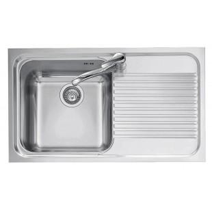 Lavello OMNIA incasso inox 86x50 1 Vasca + gocciolatoio destro