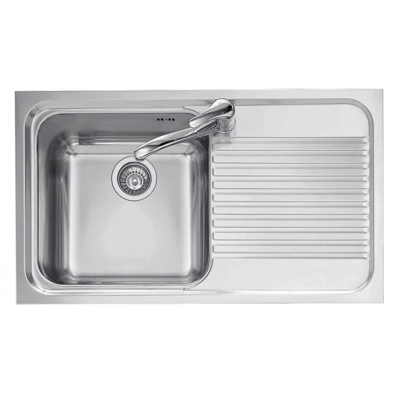 86x50 cm OMNIA built-in sink - 1 bowl + right drainer