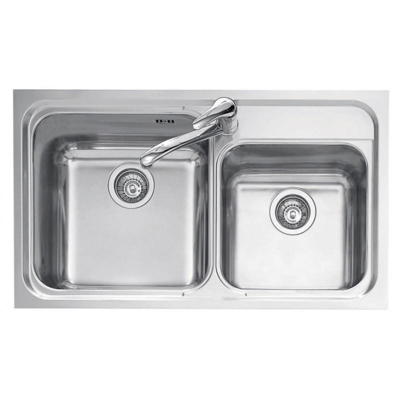 86x50 cm OMNIA built-in sink - 2 bowls